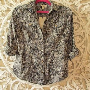Dana Buchman Button Down Blouse Shirt NWT